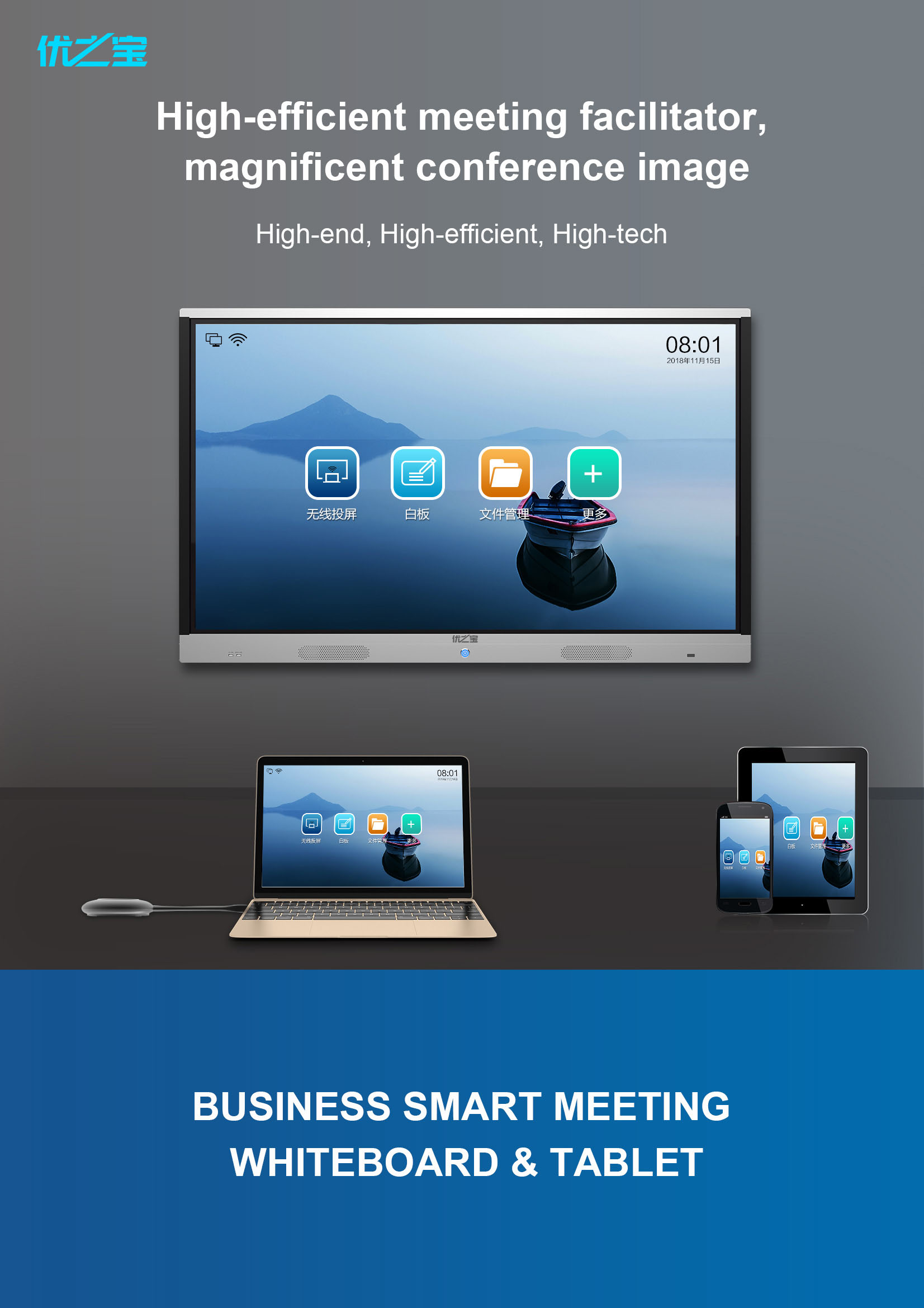 Smart meeting white board&tablet pc